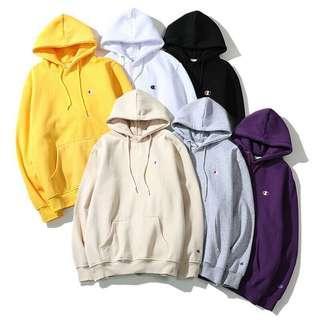 champion small logo hoodie