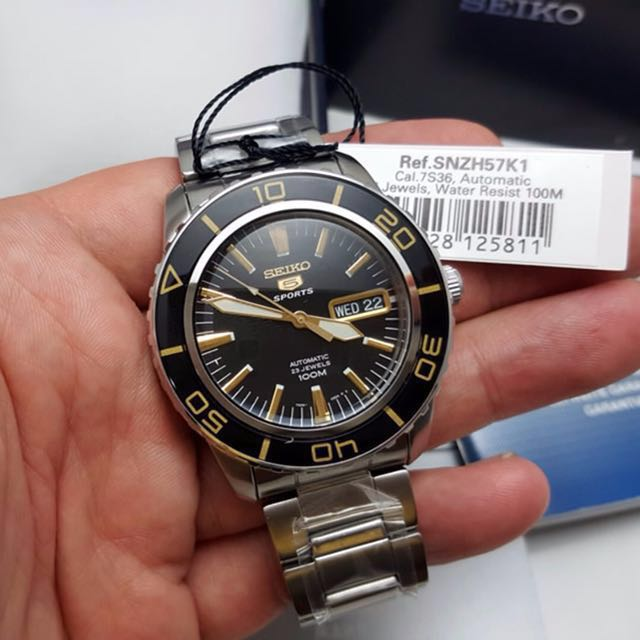 5152169d9 Authentic Brand New Seiko 5 Automatic Sports SNZH57K1 SNZH57 SNZH ...