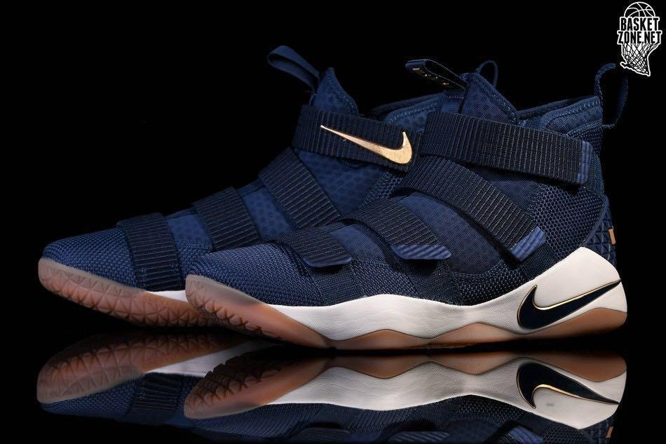 the best attitude a26d7 39928 AUTHENTIC Nike LeBron Soldier 11 Dark Blue Basketball shoe ...