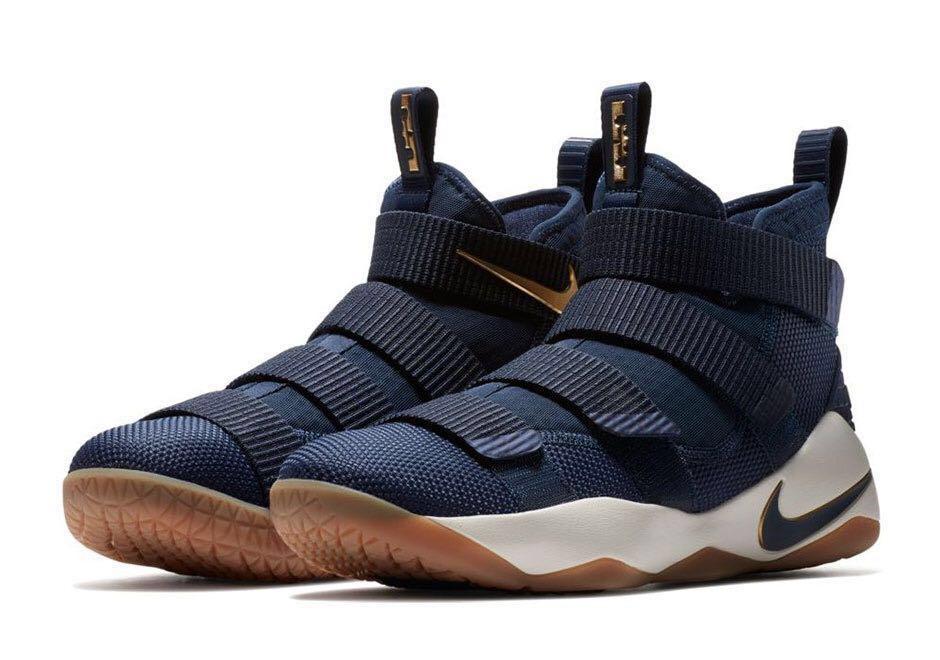 6332f29963443 AUTHENTIC Nike LeBron Soldier 11 Dark Blue Basketball shoe