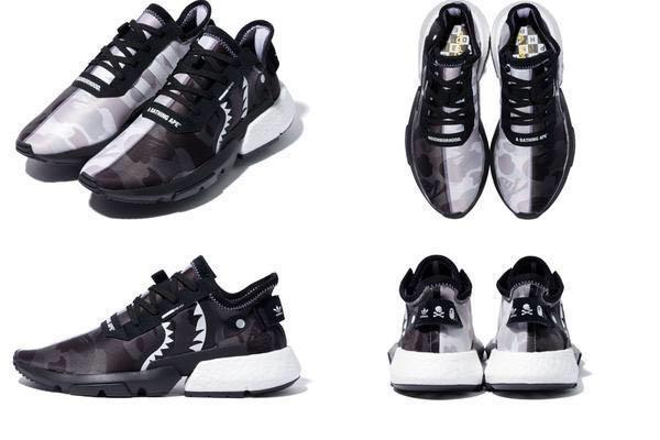 9ec67b84498e1 Bape x Neighbourhood x Adidas POD-S3.1 and NMD