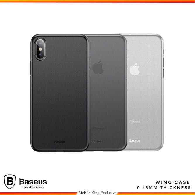 best service 127fb ce6e9 Baseus Wing Case Paper Thin 0.45mm Slim Case for iPhone X/ Xs Max/ XR