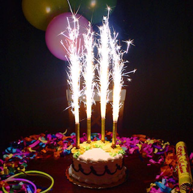 Birthday Candle Sparkle Firework Everything Else On Carousell