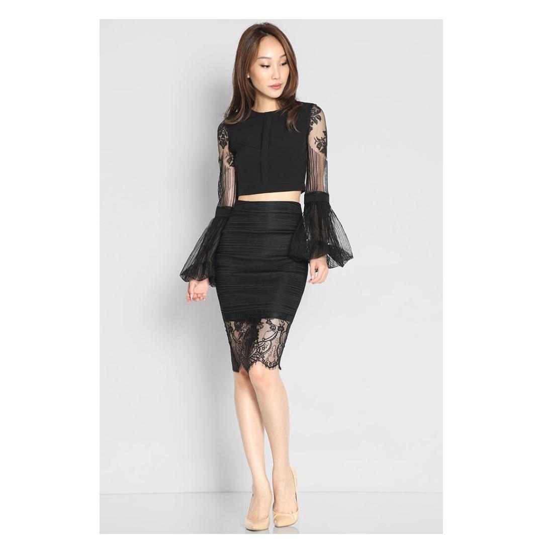 3b1a81053 BN) Lara J Indira Ellen Skirt In Black - Size M, Women's Fashion ...