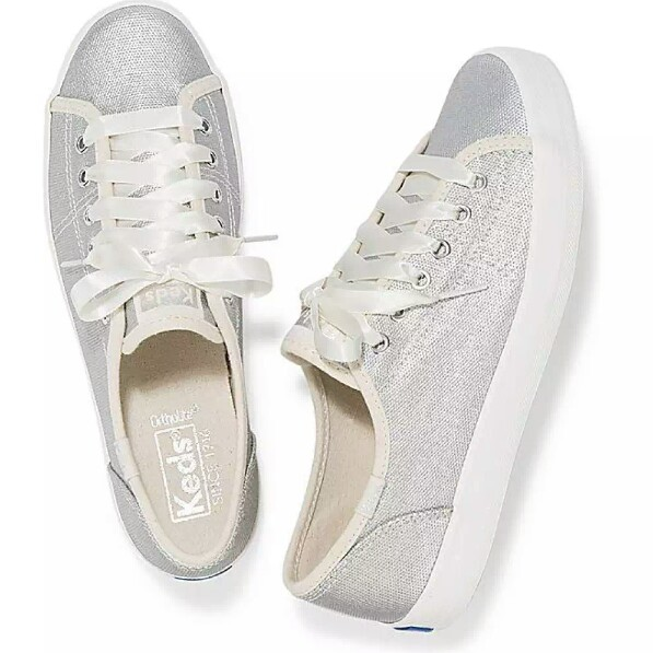 062c015b49508 Brand New Authentic Keds Kickstart Matte Brushed Metallic Silver US ...