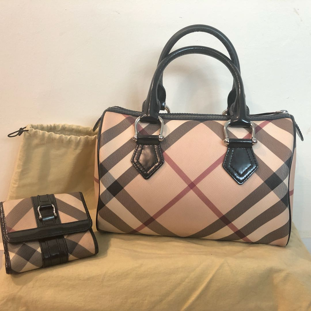 689732ba0935 Burberry Bowling Bag and Wallet