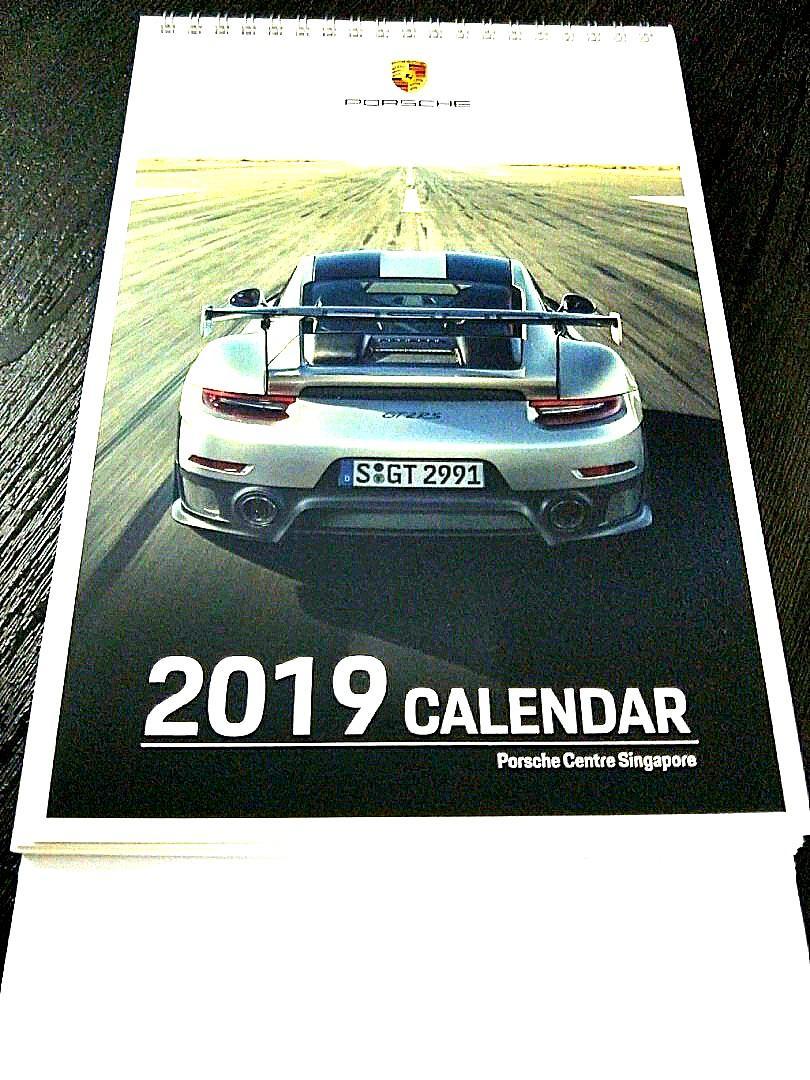 Calendar 2019 Porsche Calendar (free postage), Books