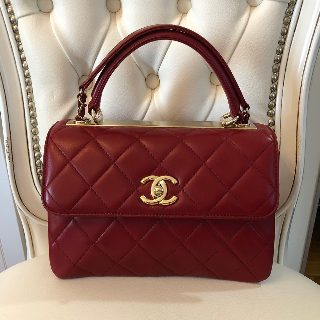 cc98fb5f4825 Chanel Small flap bag with TOP handle