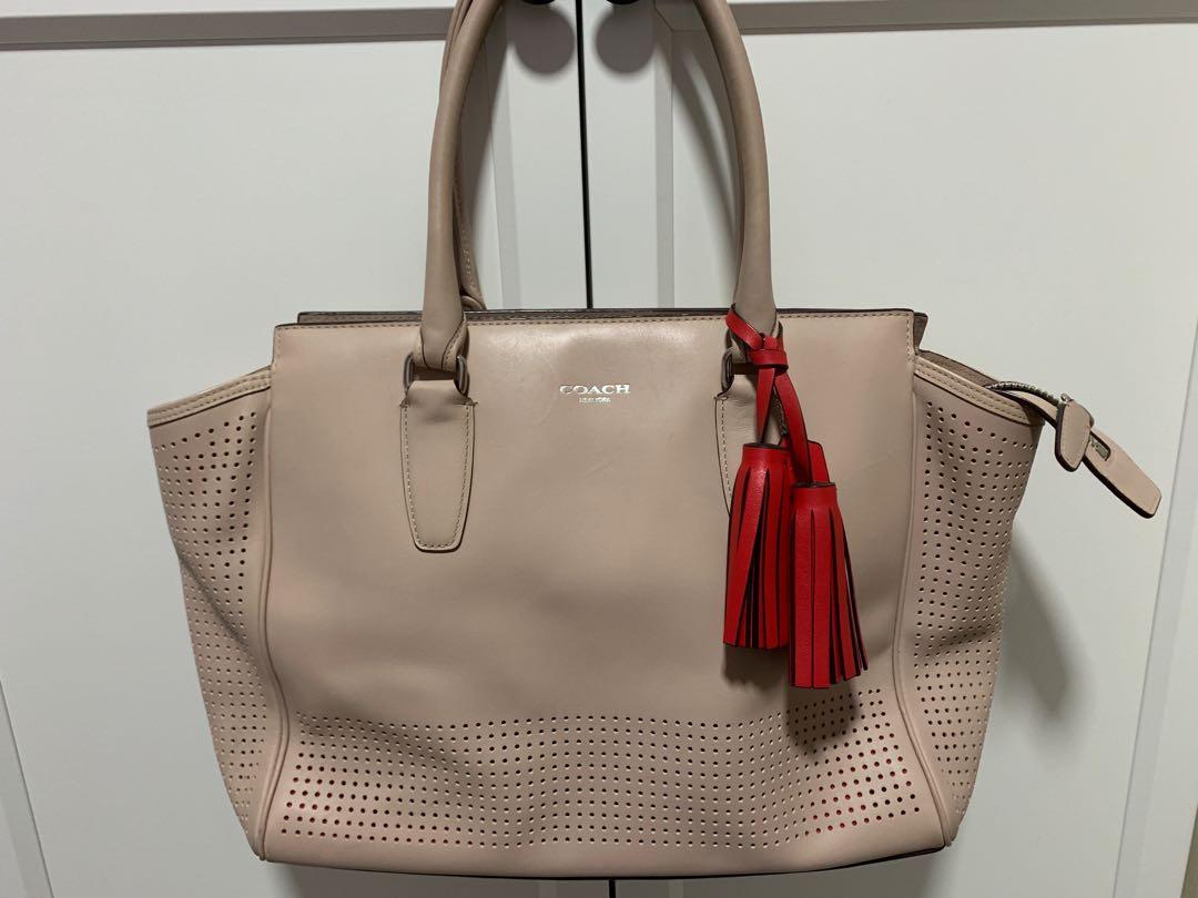 Coach pale pink handbag 1470d1ba6ac75