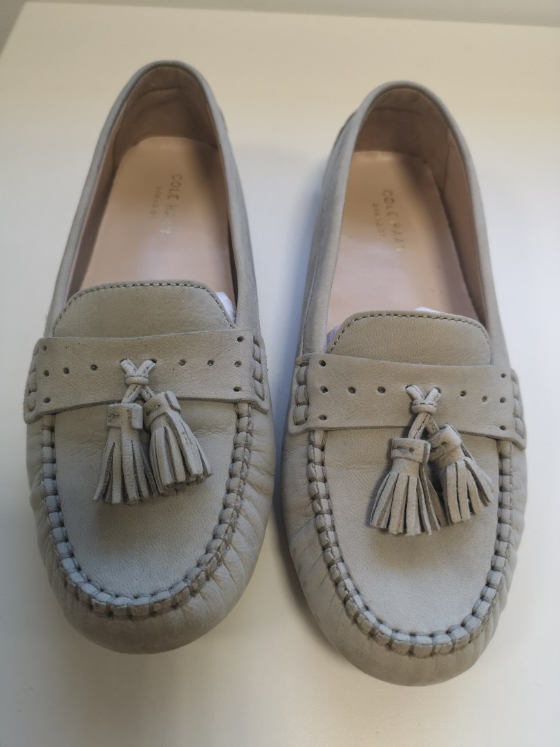 ac2eec676fd Cole haan grand Ors moccasins grey. US size 5.5 womens shoes. Practically  new.
