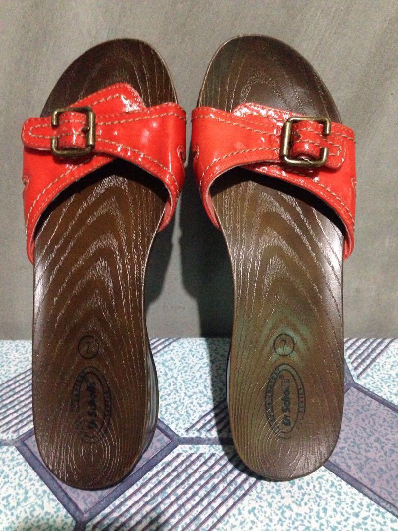dc156840dcd6 Dr Scholls Comfort Glossy Red Sandal Slide