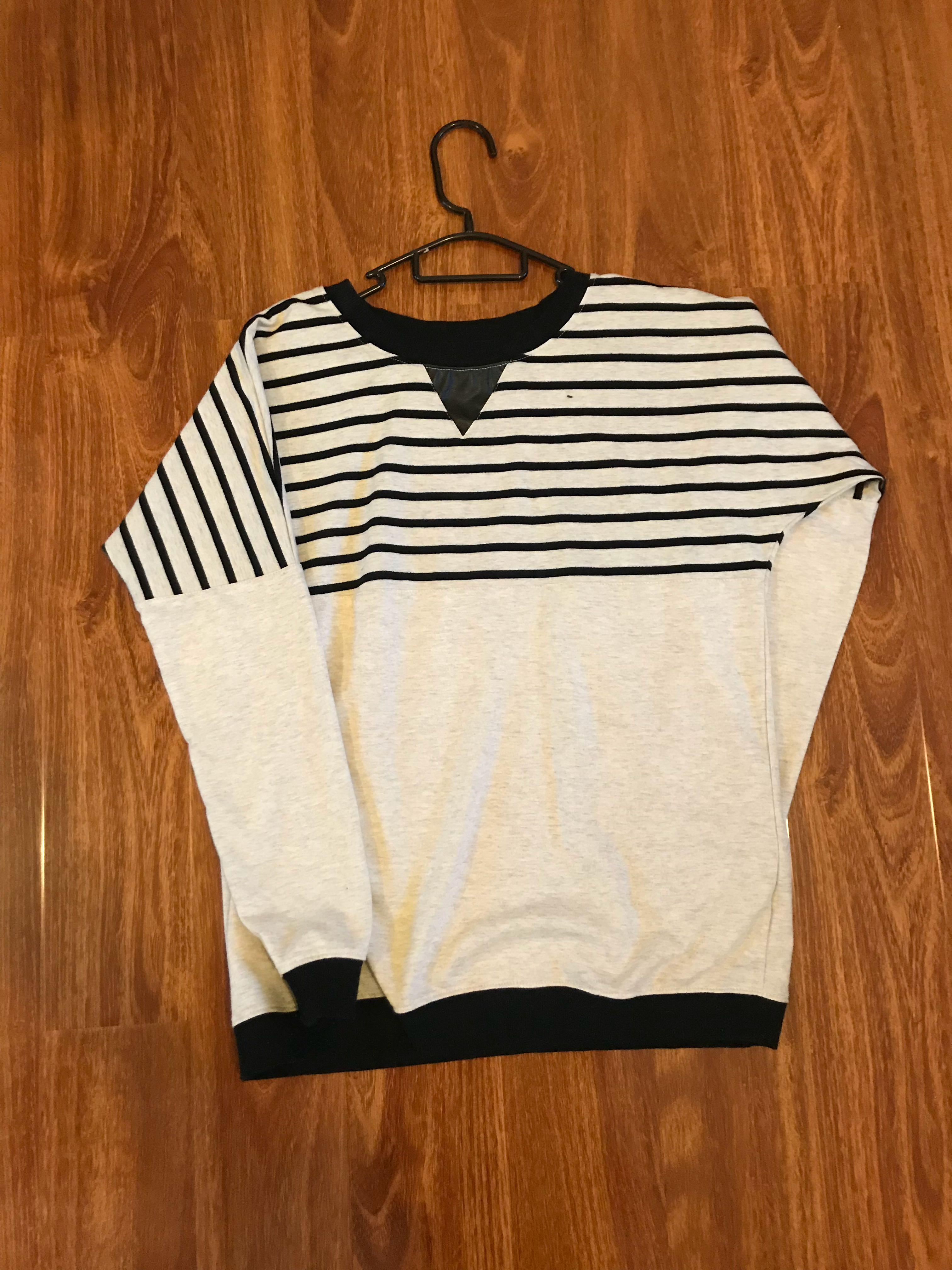 Factorie striped colour block sweater