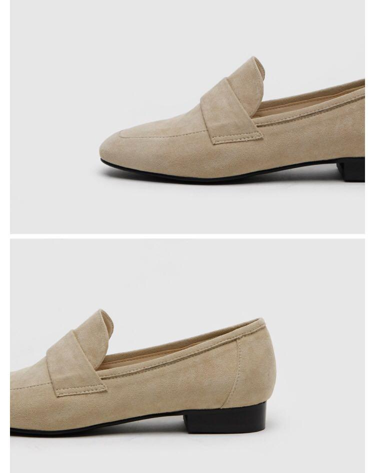 Faux suede loafer