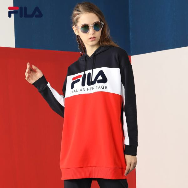 FILA WHITE LINE COLOURBLOCK HOODIE AUTHENTIC, Men's Fashion ...