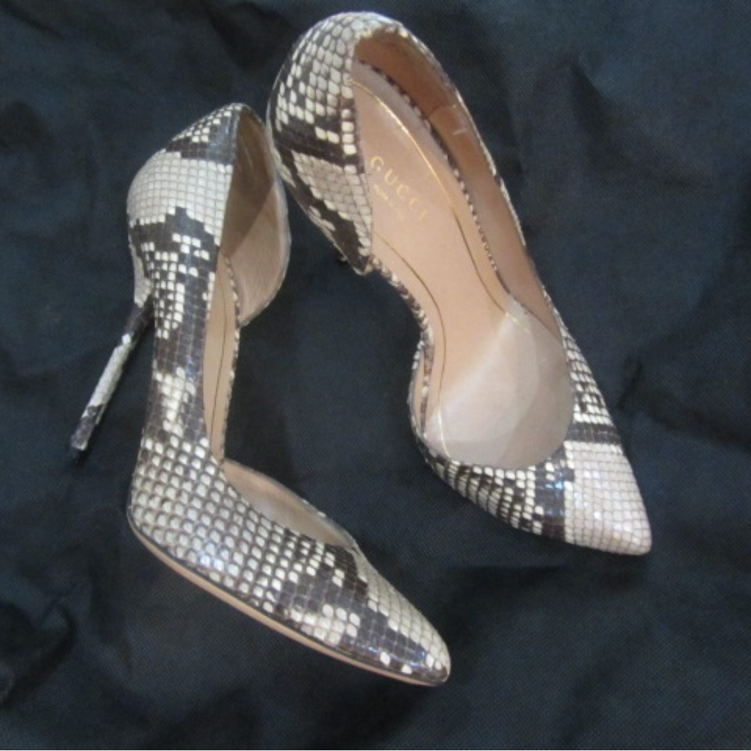 8f5024102 Gucci Python snake pumps heels shoes sz 39, Women's Fashion, Shoes ...