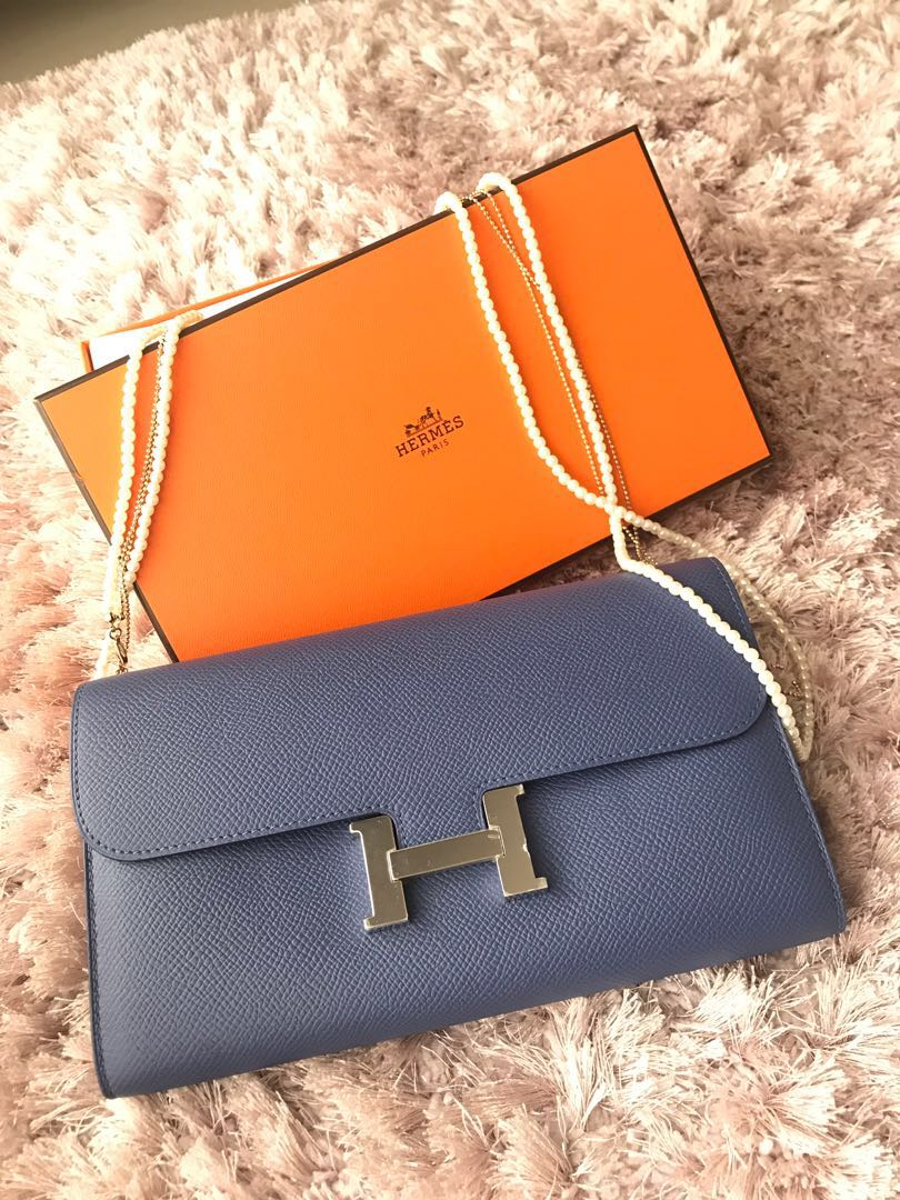 fd788a95fc Hermes Constance Wallet Ghw Bleu Agate, Luxury, Bags & Wallets on ...