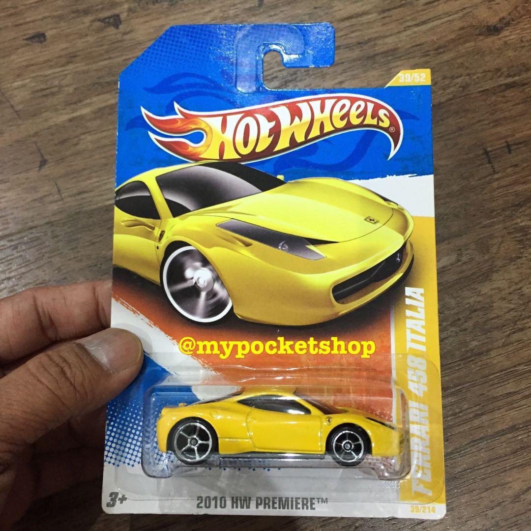Hot Wheels Ferrari 458 Italia Yellow Toys Games Others On Carousell