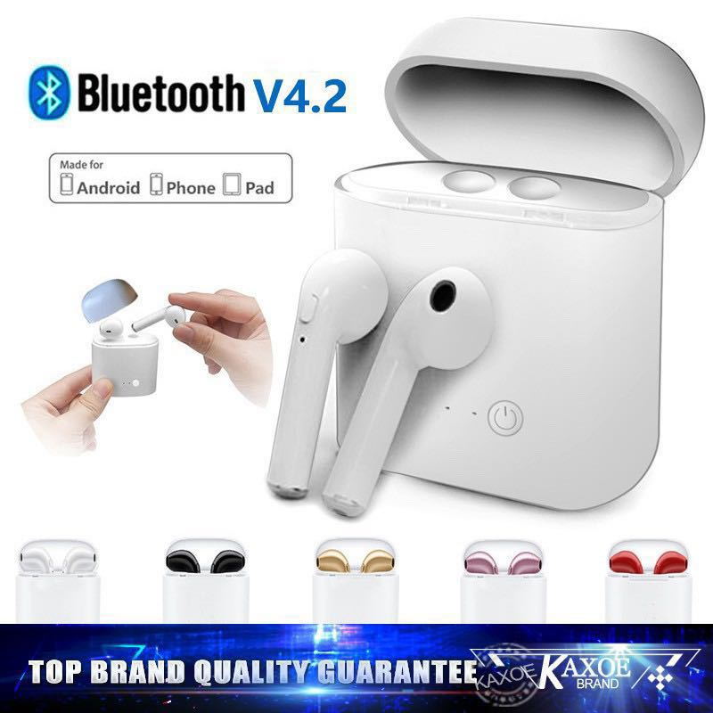 0c90ba107a8 i7S TWS Bluetooth Airpods, Electronics, Audio on Carousell