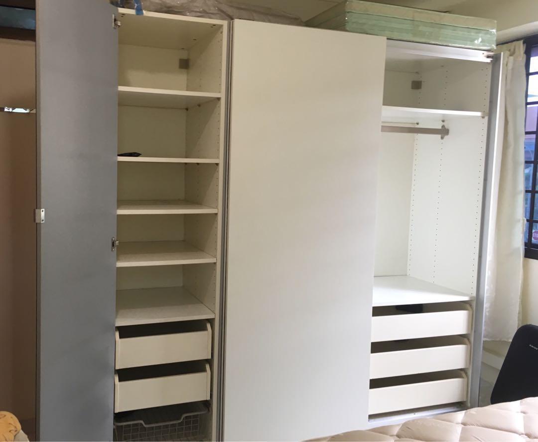 IKEA PAX Wardrobe (Sliding Door), Furniture, Others on Carousell