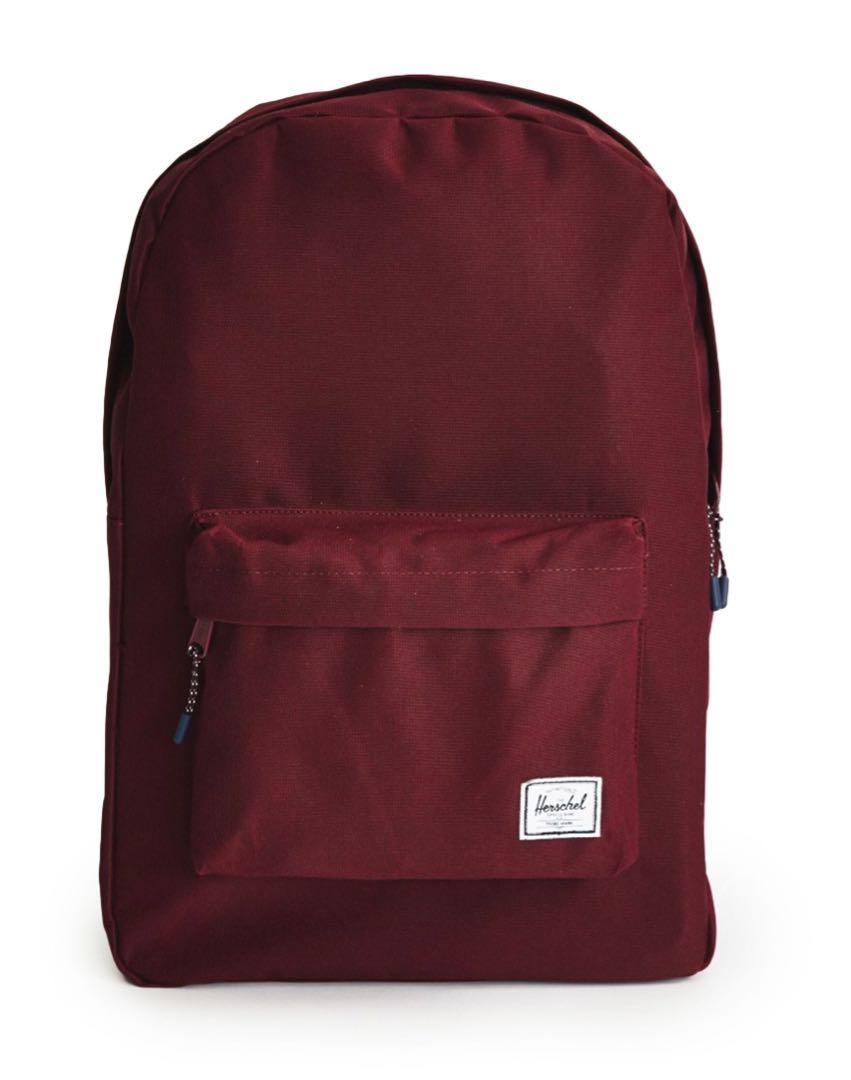f7b5287e7ca INSTOCK herschel classic burgundy backpack