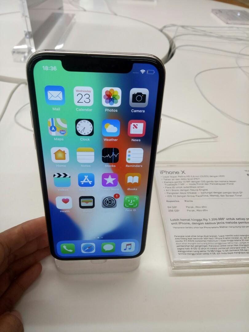 iPhone X 64GB Kredit Tanpa CC Pot 1 Langsung Cair Ibox Resmi on