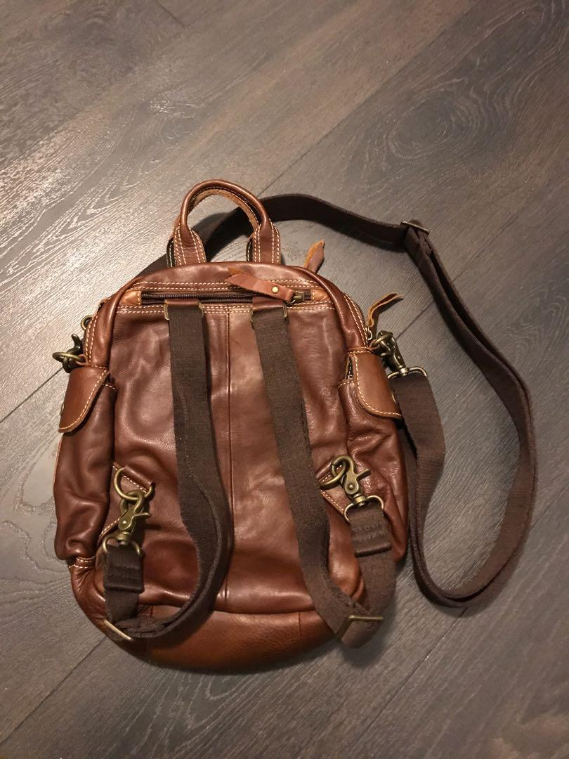 Leather Functionality Backpack / Handbag, Brand New