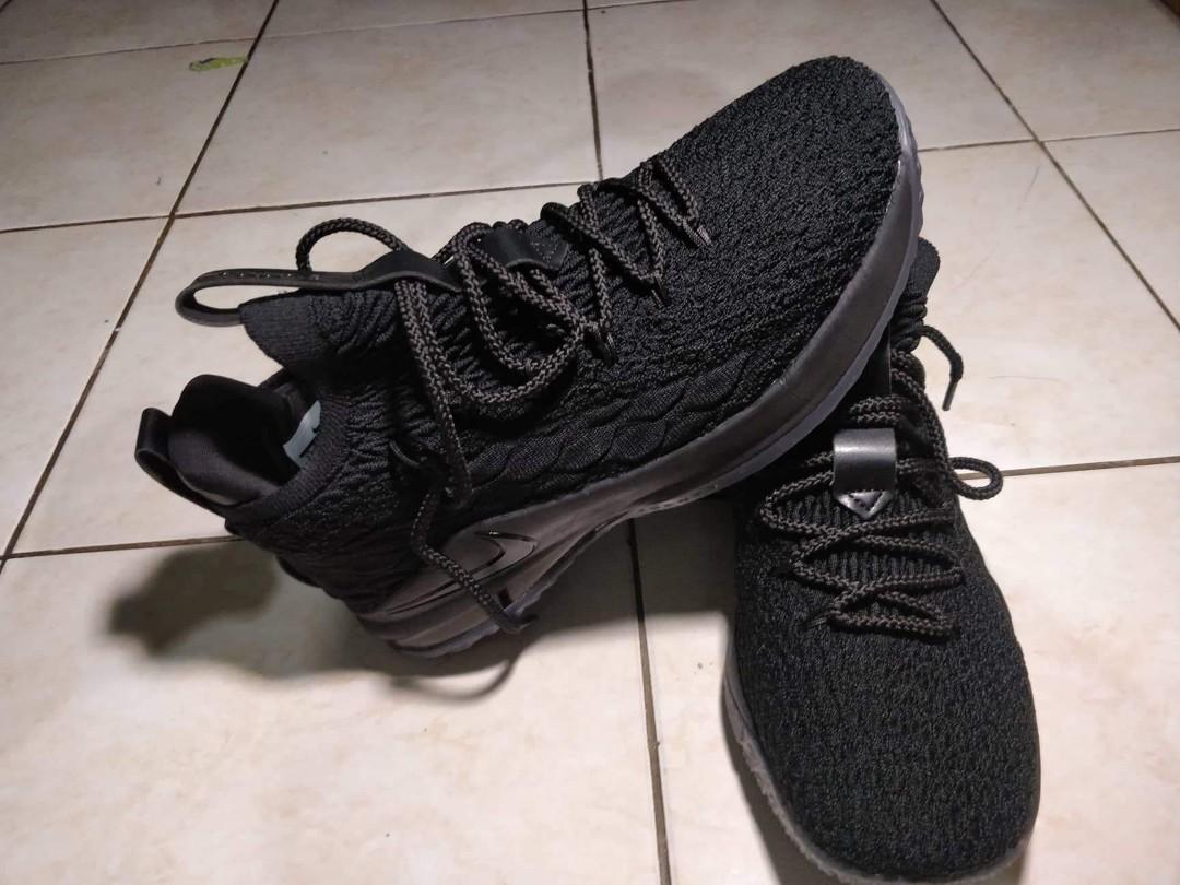 hot sale online 93572 d859b Lebron 15 Low cut Triple Black, Men's Fashion, Footwear ...