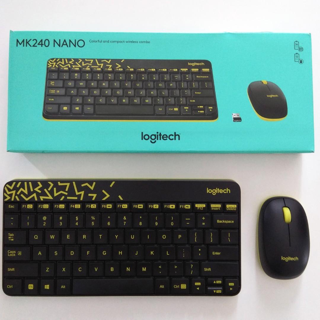 5f7a56fa9d9 Logitech Keyboard MK240 Nano, Electronics, Computer Parts ...
