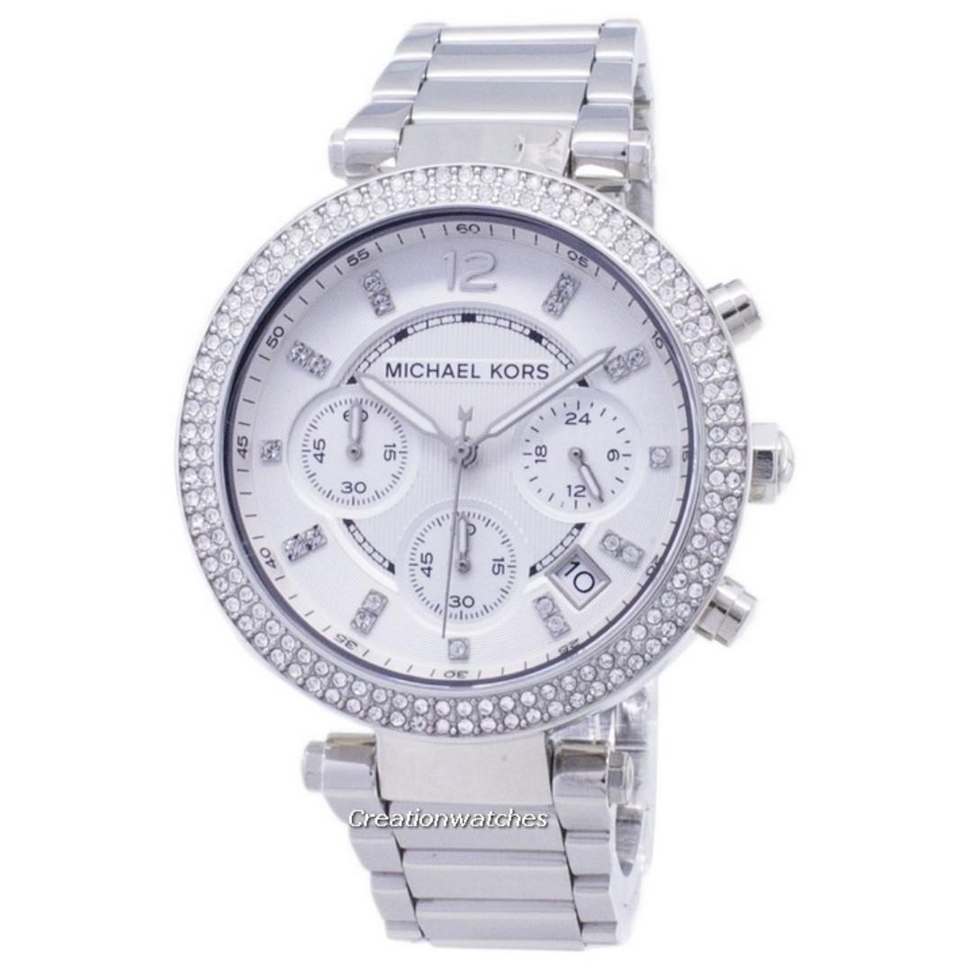 3082542d3f44 Michael Kors Parker Crystals Chronograph MK5353 Women s Watch ...
