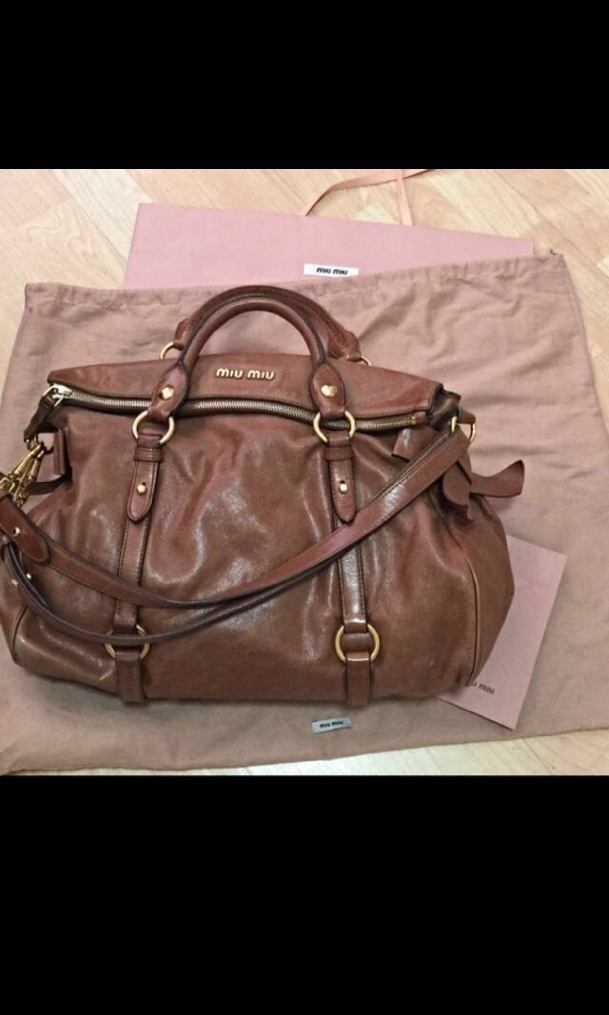 880dbd5a957a Miu Miu Vitello Lux brown (price reduced!)