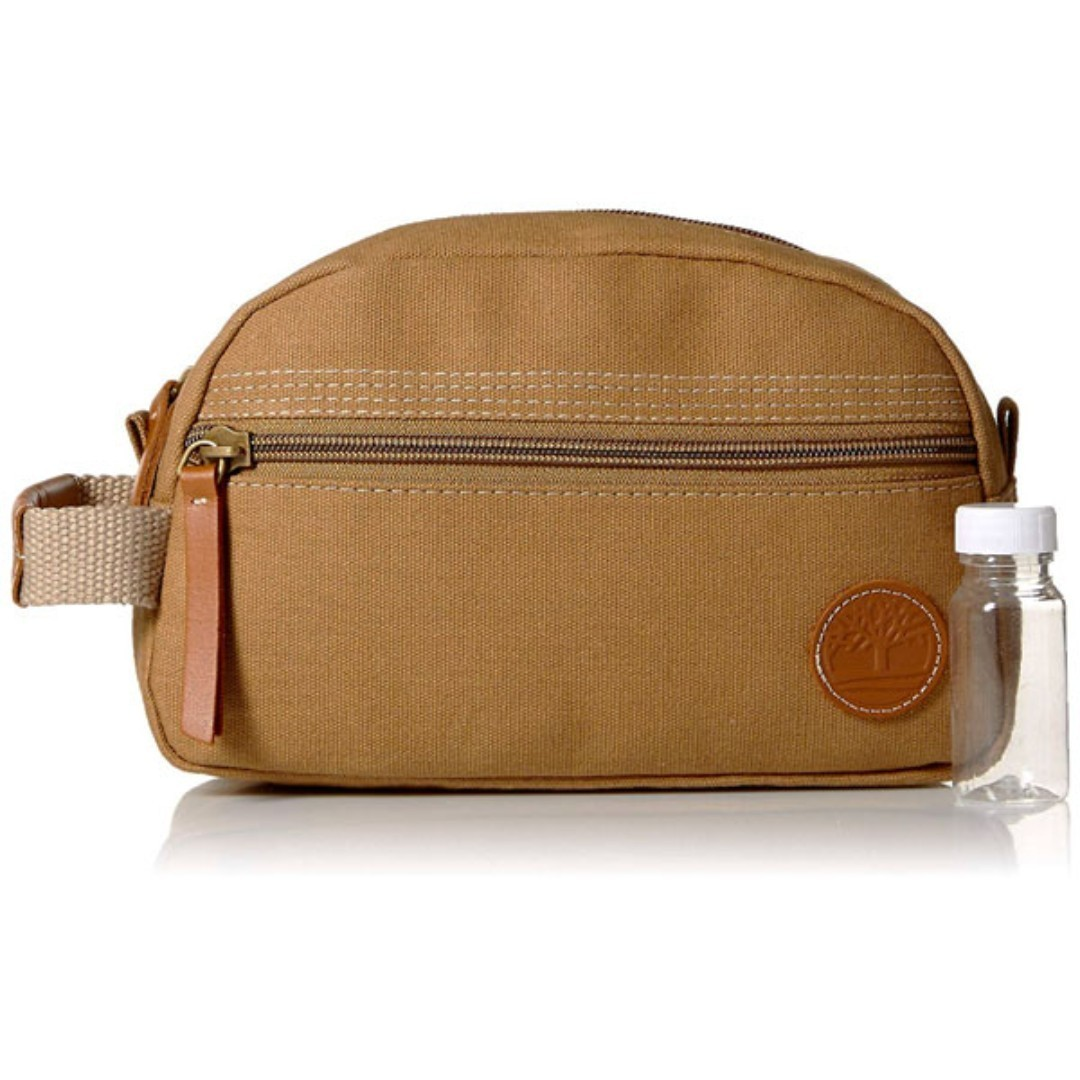 a316b43489 NEW Timberland Men s Travel Kit Toiletry Bag Organizer Pouch (Canvas ...