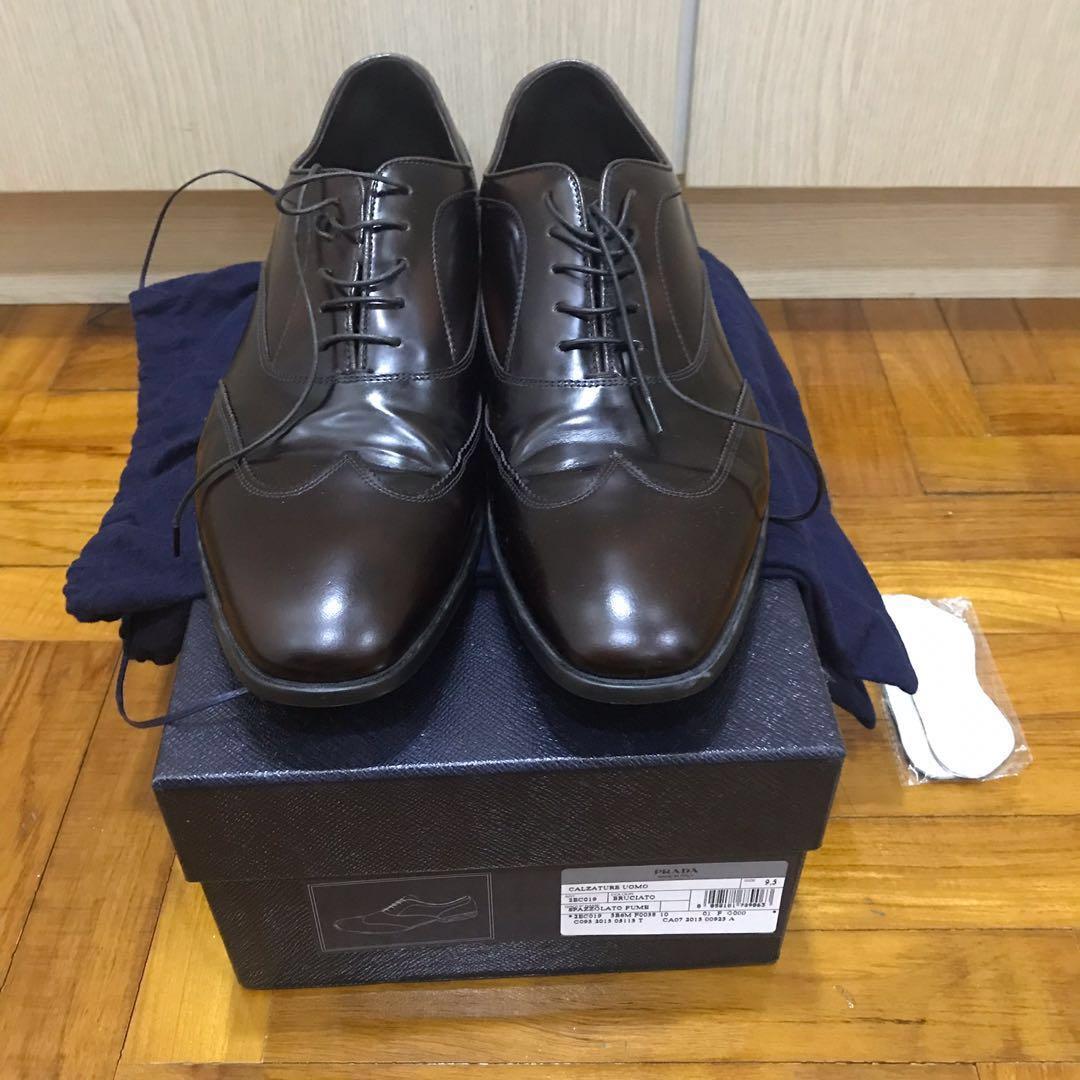 252c689349ec NIB Prada Men s leather shoes