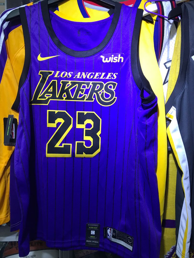 the latest 6c8fd 2996b Nike LA Lebron James LA Lakers Jersey 有wish 廣告章, Sports ...