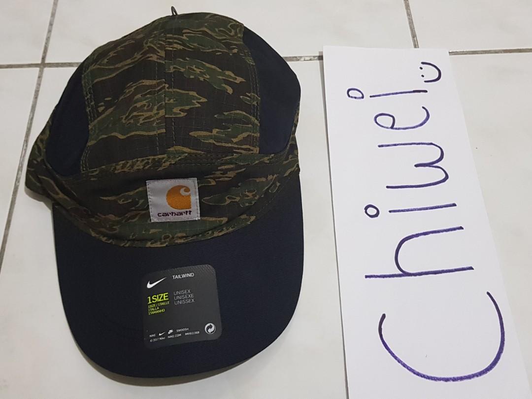 5c05bbd921 Nike x Carhartt Tailwind Camo Cap, Fesyen Lelaki, Aksesori, Topi di ...