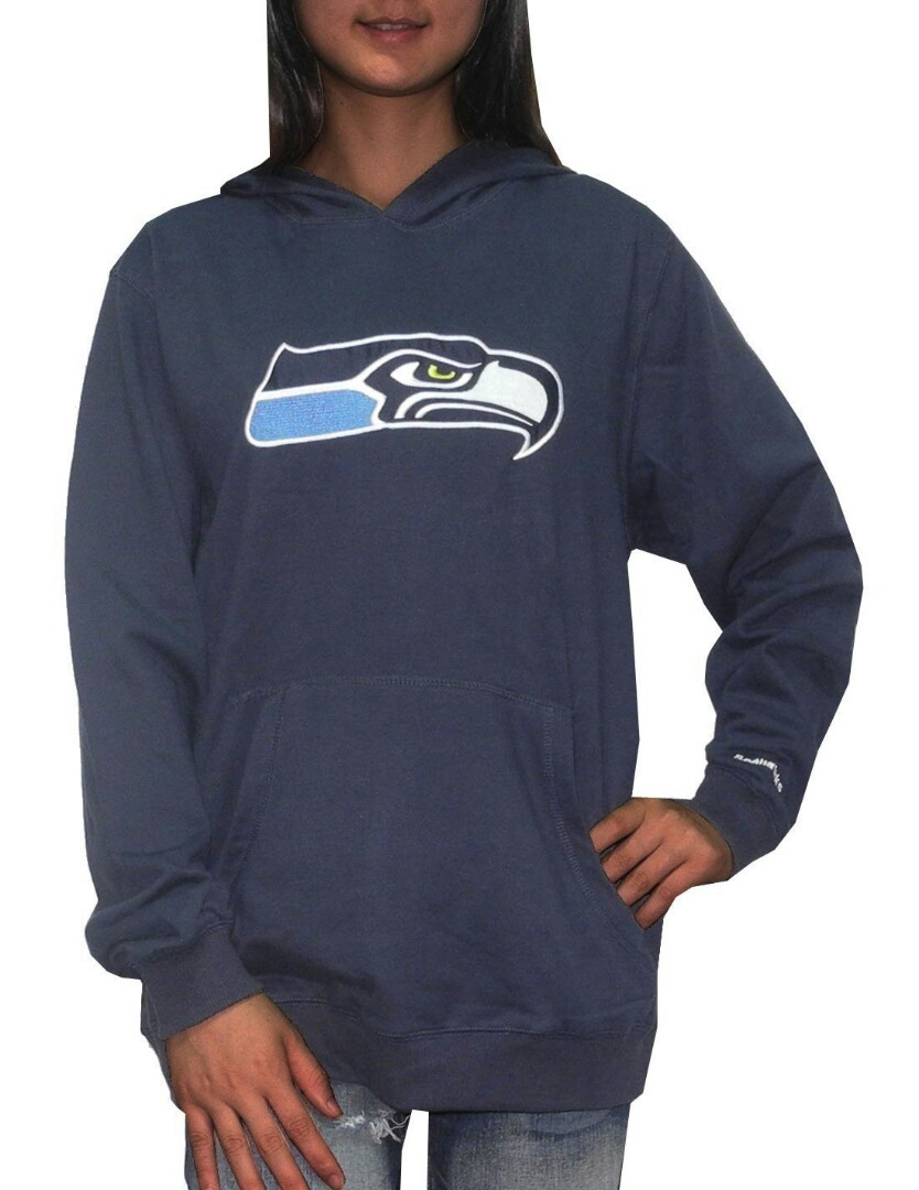 brand new cf131 ac800 PINK Victoria's Secret NFL Women Seattle Seahawks Pullover Hoodie (Dark  Blue)