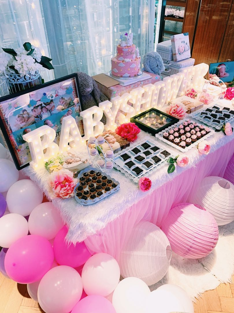 Pink Baby Shower Dessert Table Everything Else On Carousell