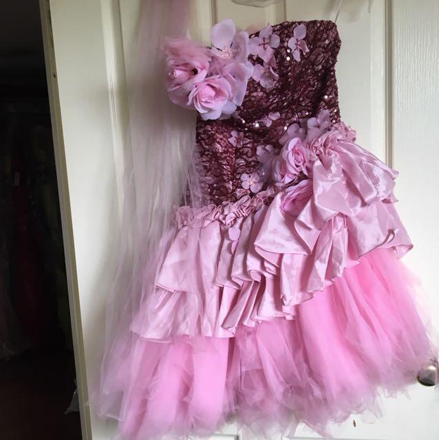 Pink cute formal dress