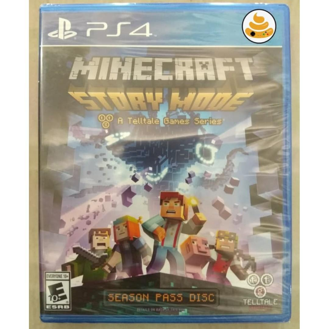 PS4 Minecraft Story Mode, Video Gaming, Video Games on Carousell