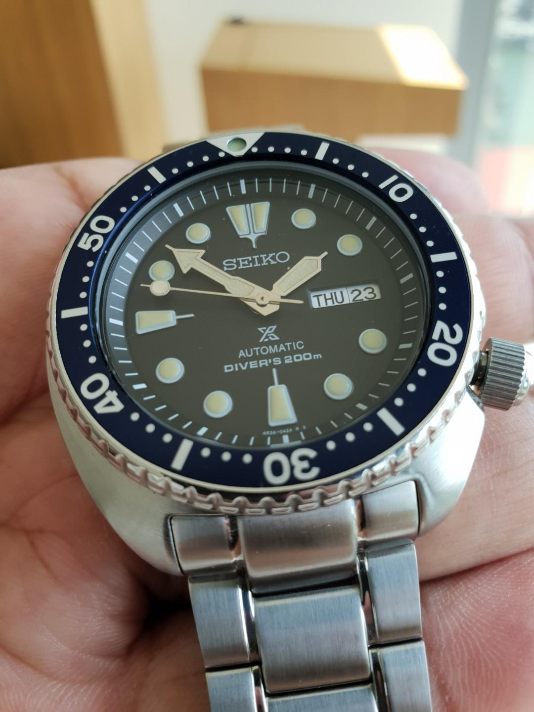 Seiko Turtle - 6309-like Patina Mod, Men's Fashion, Watches