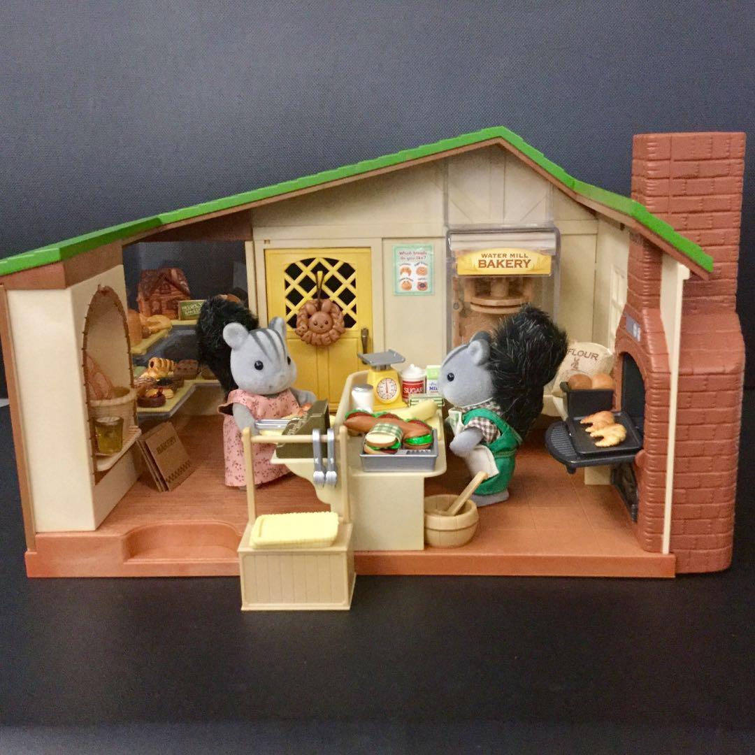 Sylvanian Families Water Mill Bakery Toys Games Bricks