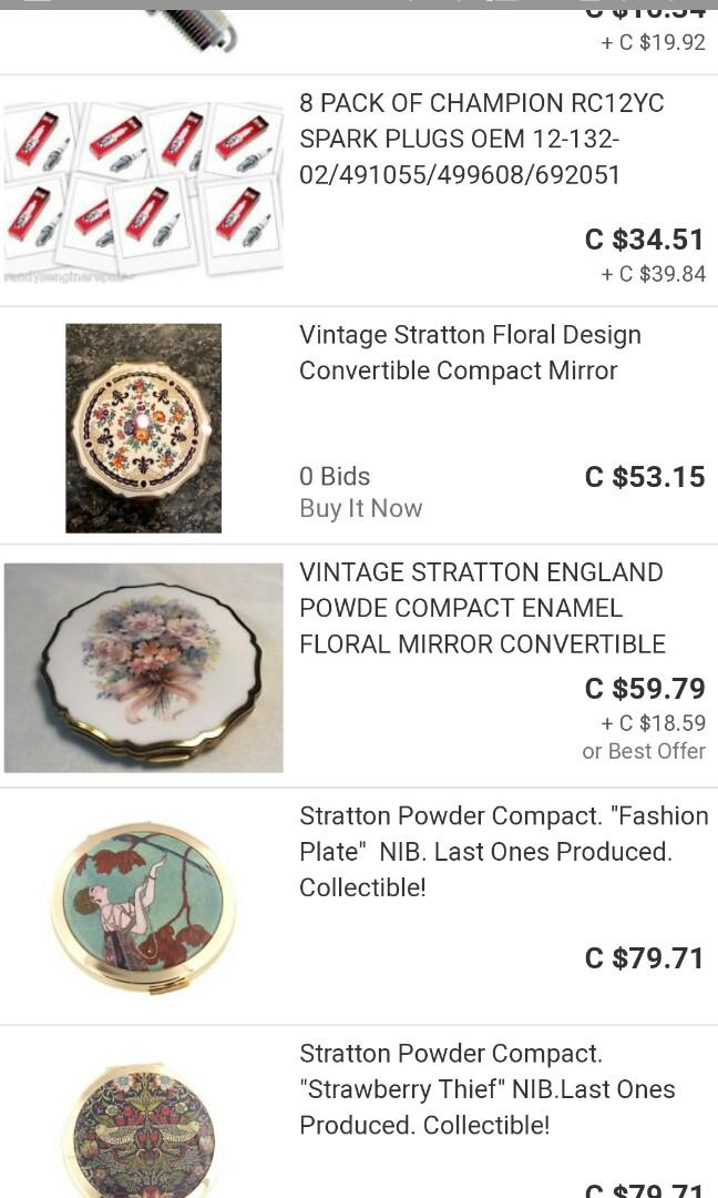 """Stratton Powder Compact Collectible! /""""Strawberry Thief/"""" NIB.Last Ones Produced"""