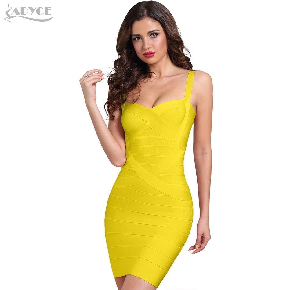 Yellow Bandage Bodycon Party Dress Size S (AU 8-10) BNWOT