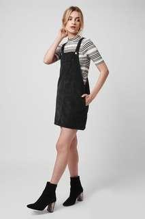 TOPSHOP PETITE Cord pinafore dress
