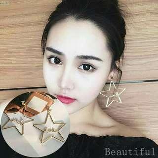 <In Stock> Korean Style Love Star Shape Earrings