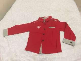 Kemeja Merah Anak cowok 1-3 tahun