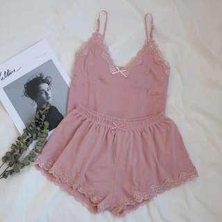 🚚 Dusty Pink Lace Sleepwear/Lingerie