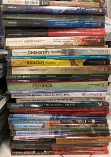 Secondary school textbooks (a lot!)