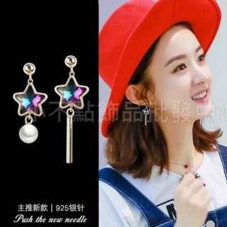 韓國時尚氣質S925銀針耳環  ●使用防過敏S925銀耳針  ●電鍍保色