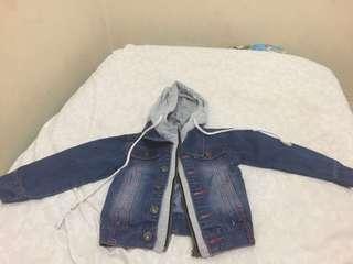 Jaket jeans anak 2-3 tahun