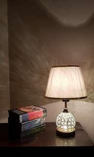 Dual Lighting Crystal Ball Table Lamp